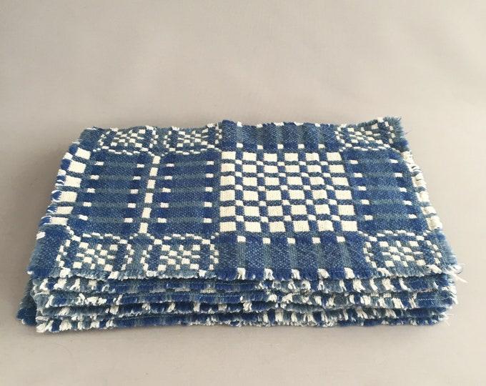 Welsh woven place mats x 8