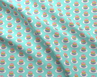 Rainbow Pancakes Fabric - Rainbow Pancake Stacks By Littlearrowdesign - Rainbow Breakfast Decor Cotton Fabric By The Yard With Spoonflower