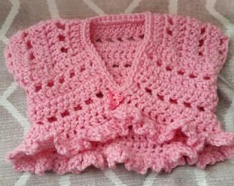 Crochet Butterfly Bolero - Infant - Baby - Toddler