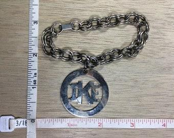 "Vintage 8"" Silver Toned Bracelet IKE Used"
