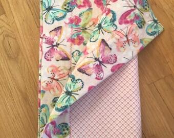 Pink Butterflies Receiving Blanket