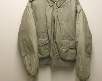 Vintage Ralph Lauren - Khaki Puffer Bomber Jacket - Large