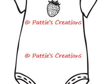 Baby Clothes Strawberry Set