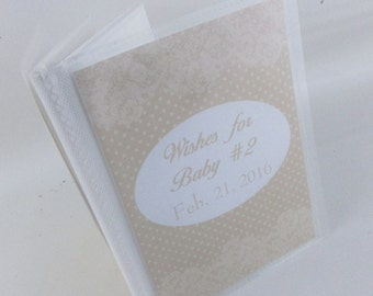 Baby Shower Wish Book  empty advice card album baby boy baby girl photo album beige polka dot lace 520