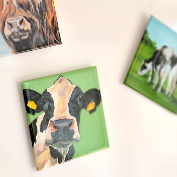 Magnet Cow Magnet Gift For Farmer Black And White Cow