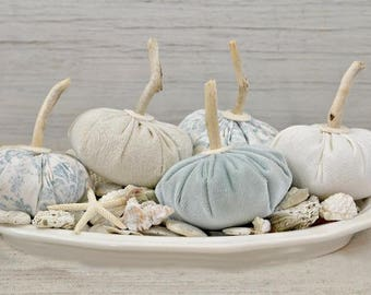 Pumpkins-Coastal Fall-Beach Cottage Fall-Bowl Filler Pumpkins