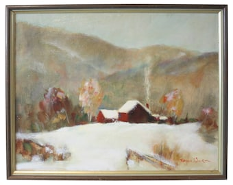 "Bryan Quirk ""Early Snow"" Oil On Canvas"