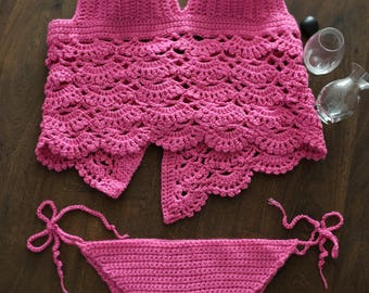 Hot pink 3 pieces set