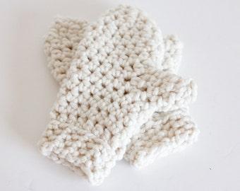 Chunky Mittens Crochet Winter Gloves   THE APPLETONS in Fisherman