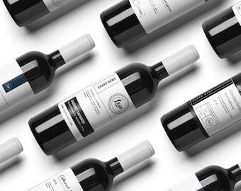 Premade wine label, premade custom label, wine labels, wine packaging, custom packaging