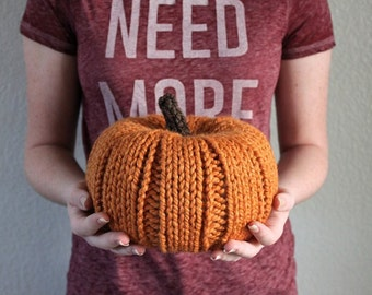 Knit Chunky Pumpkins, Fall Decor, Knit Pumpkins, Halloween Decor, Thanksgiving Decor, Pumpkin Decor, Housewarming Gift, Rustic Thanksgiving
