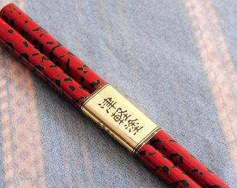 Beautiful Tsugarunuri Luxury lacquer wooden chopstick Japanese traditional craft