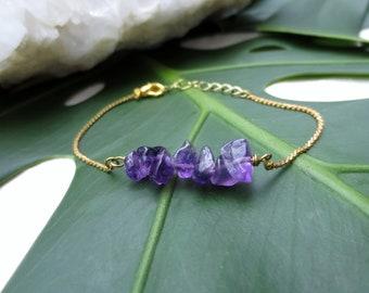 Amethyst Bracelet Purple Crystal Bracelet