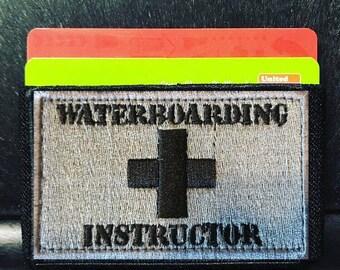 Wallet Waterboarding Instructor Slim Morale Patch Wallet