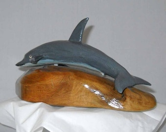 Dolphin Wood Carving, One of a Kind, Number 92