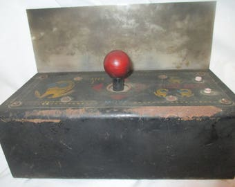 Vintage PAC MAN Table Top 4 Way JOYSTICK 1980 Midway Mfg. Player 1 Part Only