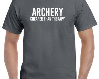 Archery Shirt-Archery Cheaper Than Therapy Archery Gift Men Women