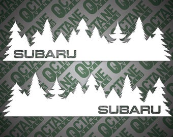 Subaru Forest Decal, Subaru Forest Sticker, Subaru Door Decal Banner