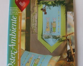 Booklet Rico atmosphere of Easter themed cross stitch patterns