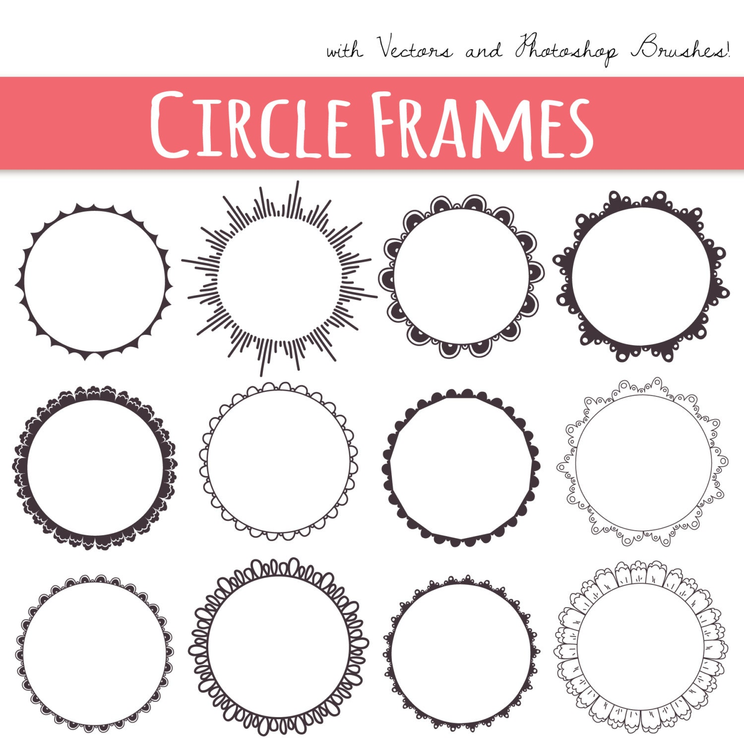 photoshop circle outline