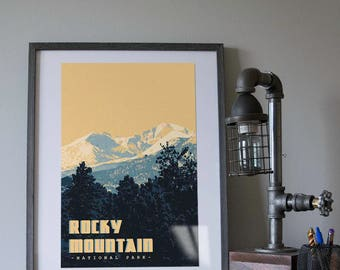 Rocky Mountain National Park Poster 11x17