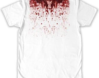Function -  Blood Splatter Halloween Costume Men's Fashion T-Shirt