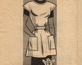 American Weekly 3916 Mail Order Apron Pattern 1950s with Outer Mailing Envelope