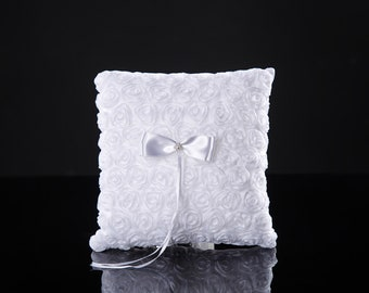 Wedding Ring Pillow ring bearer pillow white ring cushion rustic wedding ring holder