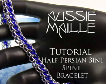 Chain Maille  Tutorial - Half Persian 3in1 Spine Bracelet