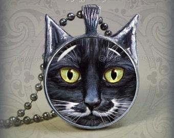 BW3 Black and White Cat pendant