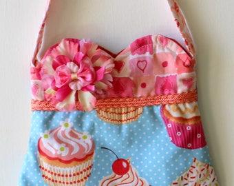 Fluffy Frosting Cupcake Purse, girls purse, toddler purse, spring purse, girlie purse