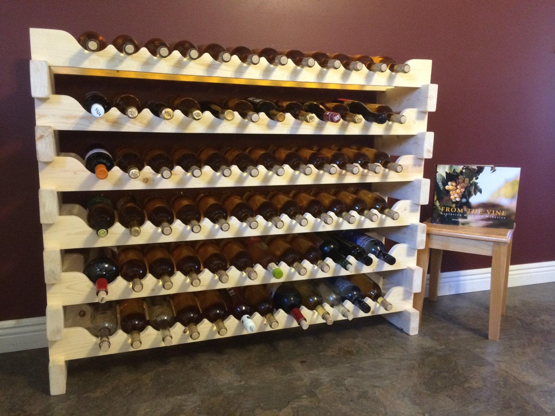 VENTE Casier à vin bois bouteille 72 pin modulaire