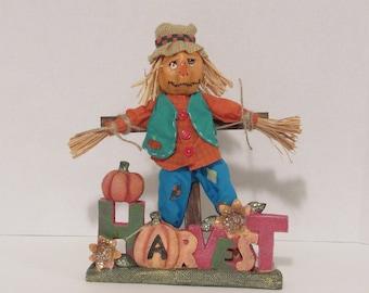 OOAK Art Doll, Halloween Scarecrow, Autumn Art, Handmade by Susan Massey