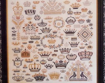 ROSEWOOD MANOR Crowns of the Kingdom counted cross stitch patterns at thecottageneedle.com