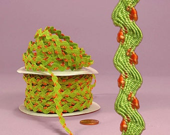 """1/4""""Lissy Ric Rac Trim-Apple Green-price for 5 yards"""