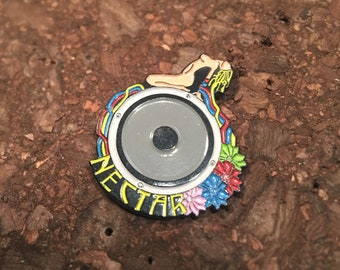 Bassnectar Flower Goddess Speaker Pin
