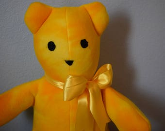 Handmade Teddy Bear/ Yellow Teddy Bear/Plush Teddy Bear/Large Teddy Bear