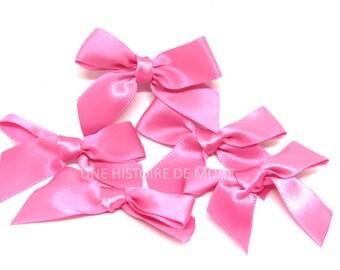5 hot pink bow Ribbon satin (NON COUSUS)