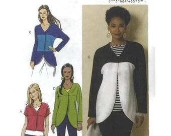 Easy Jacket Pattern, Butterick 6329, Misses/Womens L/XL/XXL, Easy Pattern, Uncut Sewing Pattern