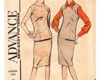 Vintage 1964 Advance 3558 Sewing Pattern Misses' Separates Size 16 Bust 36