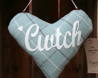 Cwtch Hanging Heart