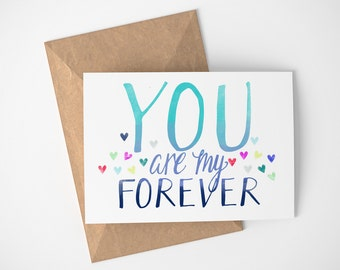 You Are My Forever, Engagement Card, Love Card For Girlfriend, Love Card For Boyfriend, Card For Wife On Wedding Day, Anniversary Cards