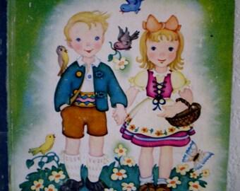 "Vintage Little Golden Book Of ""Hansel and Gretel"" 1945 Edition"