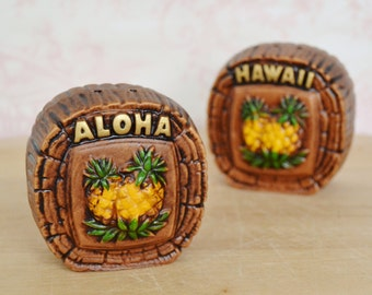 Vintage Hawaii Aloha Salt and Pepper Shakers