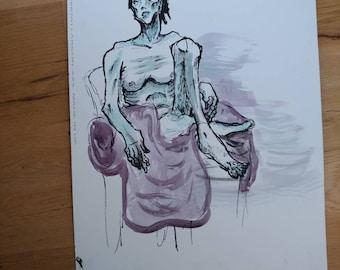 Egon Schiele style portrait
