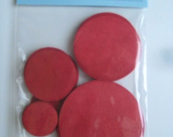 Circles 24 Red Ultrasuede