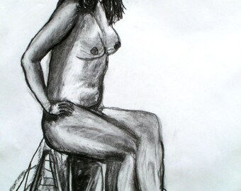 Life Drawing Lady Sitting