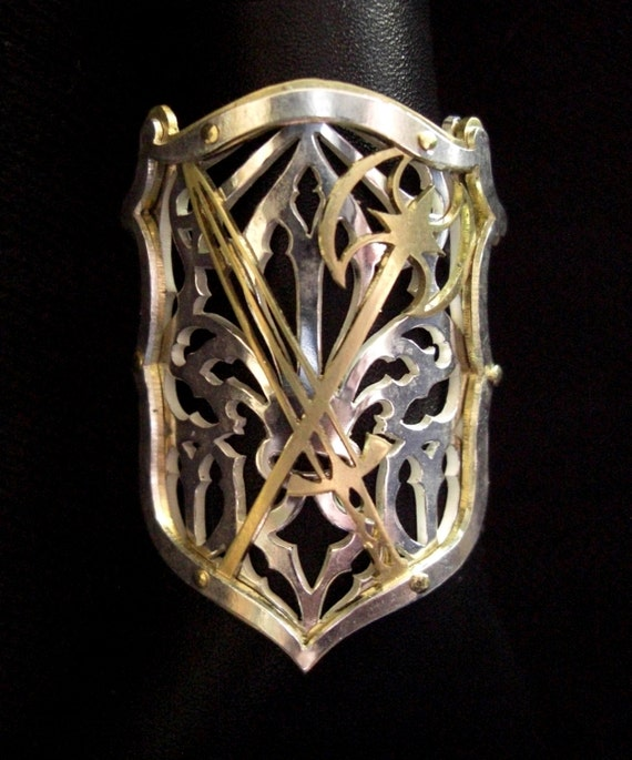 brass blade ller shield ring k with the sterling magazine accessories of worn day split in item rings and kller