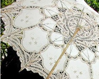 Lace umbrellas