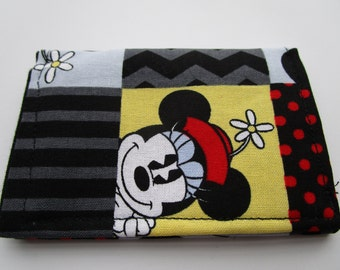 Mickey Mouse Credit Card Wallet, Retro Mickey and Minnie Wallet,  Walt Disney Park Pass Wallet, Business Card, Disney Gift Card Holder